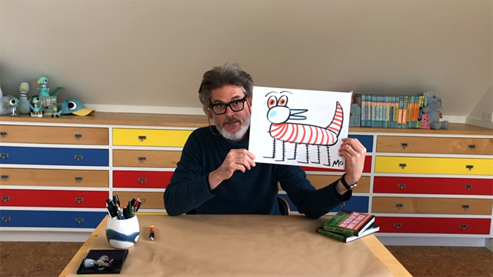 mo willems doodle drawing session