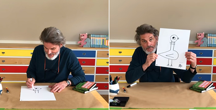 mo willems lunch doodles video session
