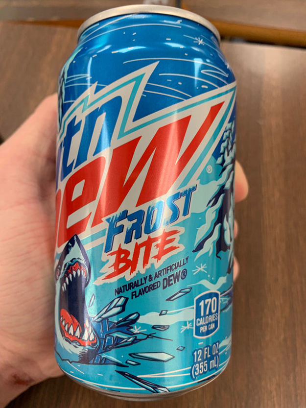 mountain dew frostbite 12oz can