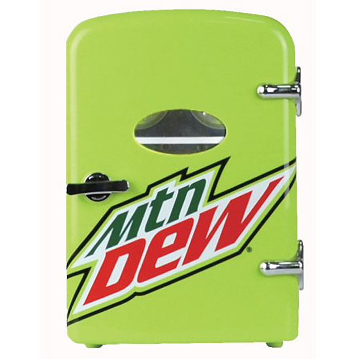 mountain dew mini fridge