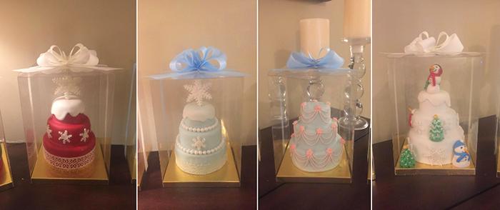 multi-tiered cake pan mini cakes