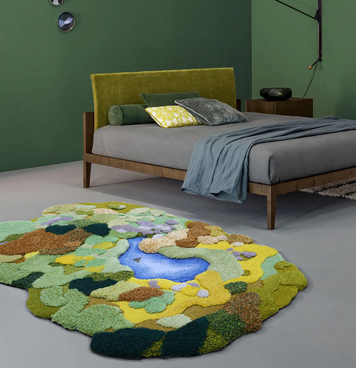 nature-inspired bedroom carpet
