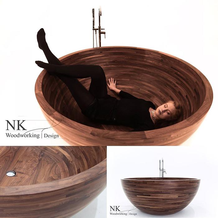 nk woodworking luxury bathroom fixture round