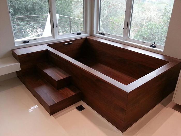 nk woodworking wooden bathtub cube shape