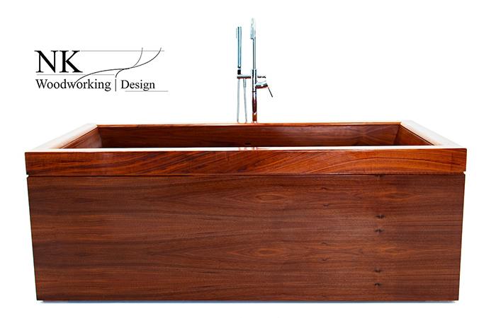 nk woodworking wooden bathtub cube