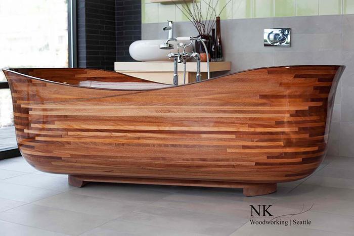 nk woodworking wooden bathtub lotus