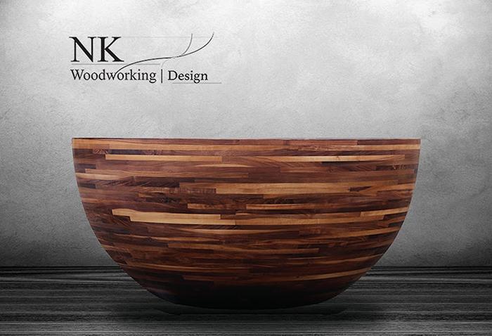 nk woodworking wooden bathtub round