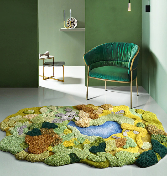 nordic style little forest 3d rugs