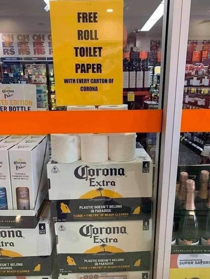 pandemic memes corona beer free toilet paper