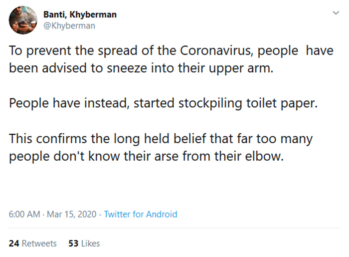 pandemic memes stockpiling toilet papers