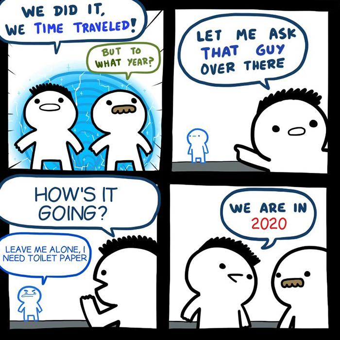 pandemic memes time travel