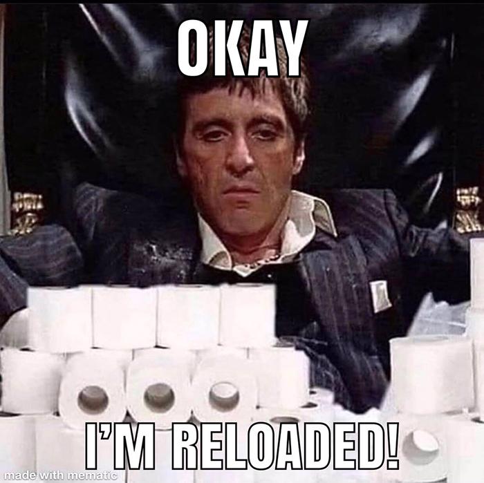 pandemic memes toilet paper reloaded