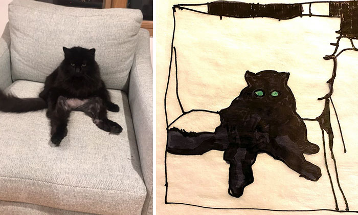 panther the cat bad pet drawing