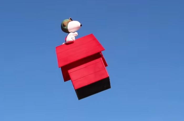 peanuts movie scene red baron