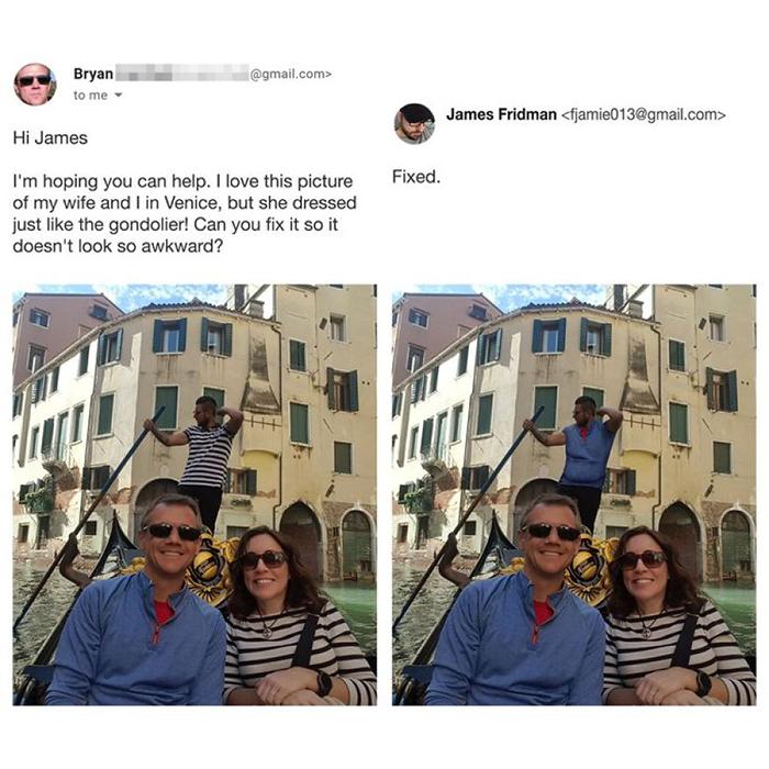 photoshop troll gondola switcheroo