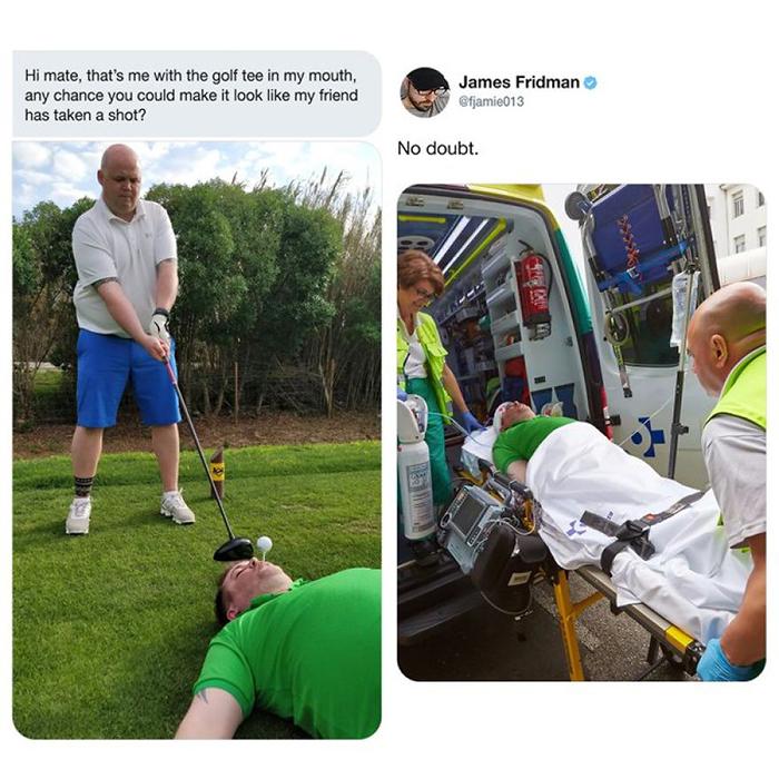 photoshop troll goofy golf aftermath