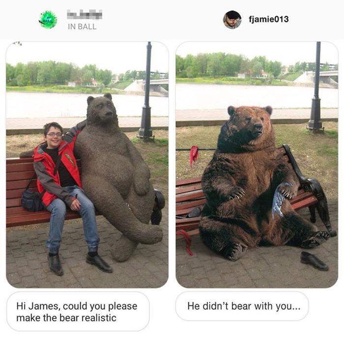 photoshop troll realistic bear
