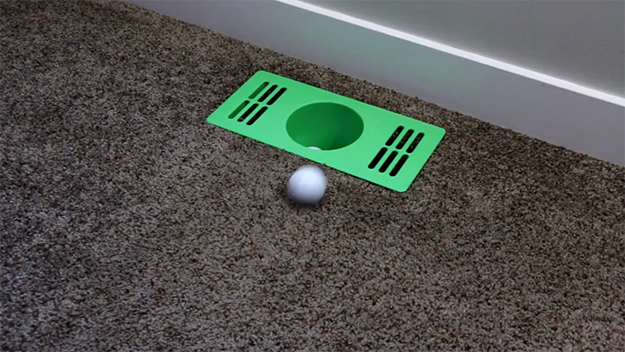 practice putting cup indoors