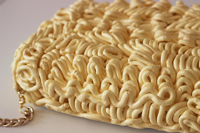 realistic ramen noodle handbag