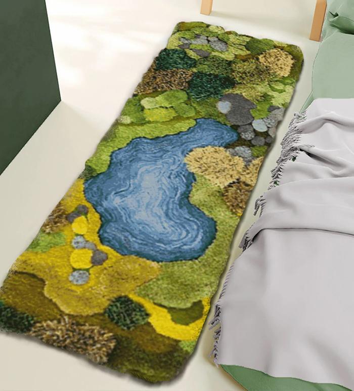 rectangular nordic style floor mat