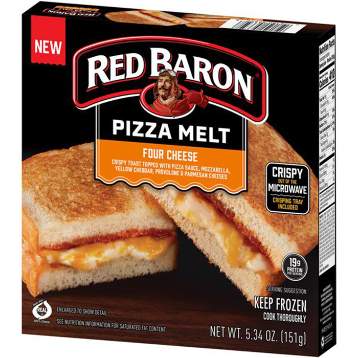 red baron pizza melt four cheese
