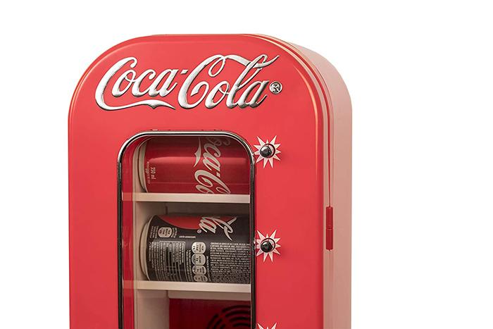 retro coca-cola mini vending fridge