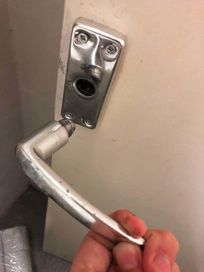 shocked doorknob