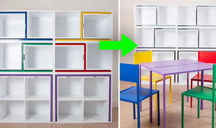 space saving bookcase