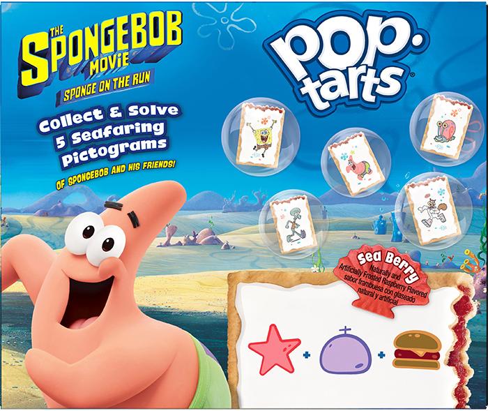 spongebob pop-tarts frosted raspberry flavor