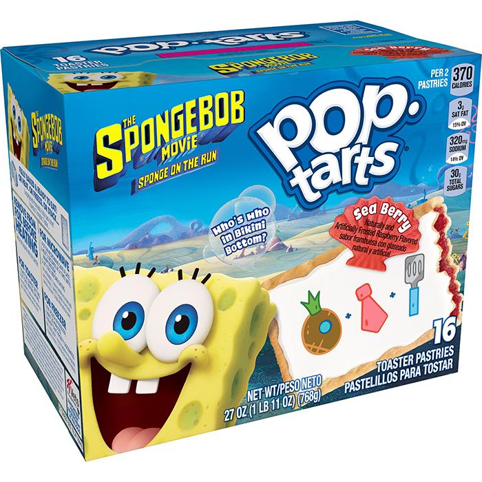 spongebob pop-tarts sea berry flavor
