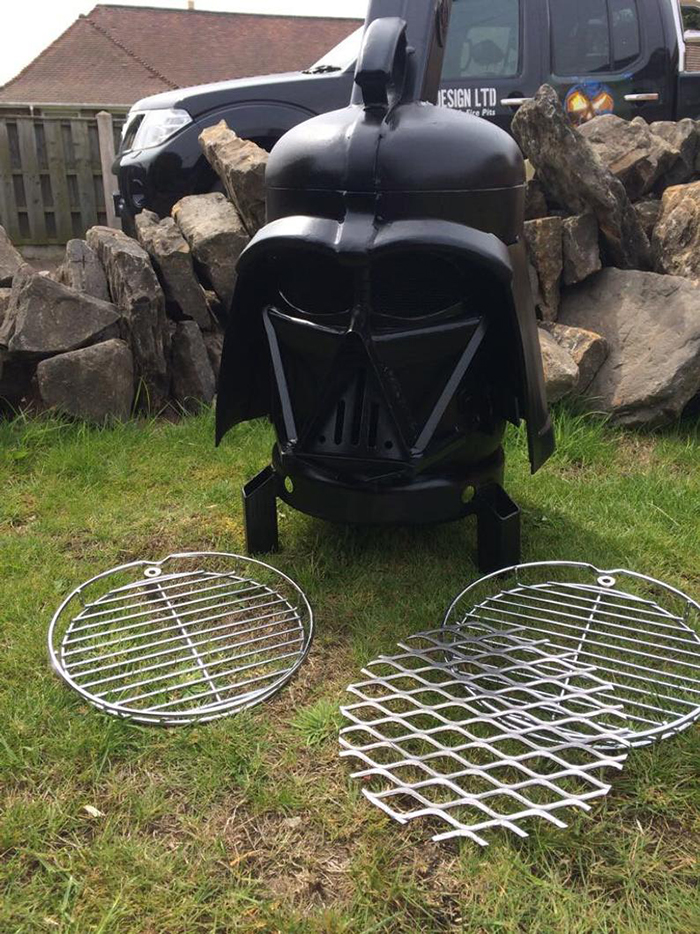 star wars inspired outdoor wood burner