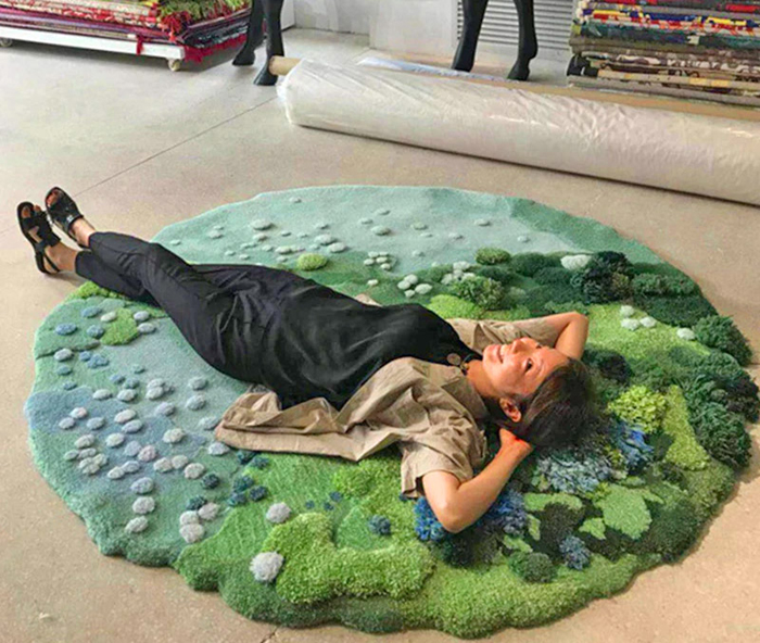 super soft nature-inspired floor carpet
