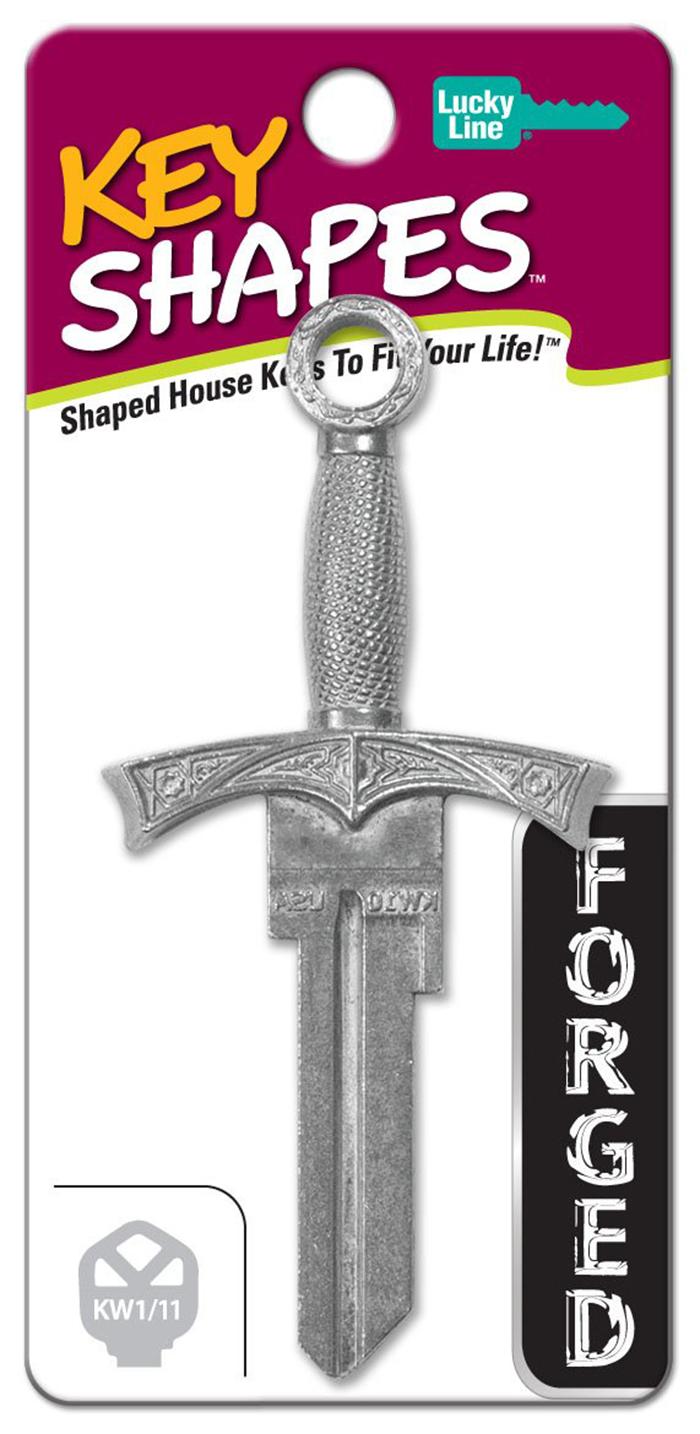 sword-shaped key