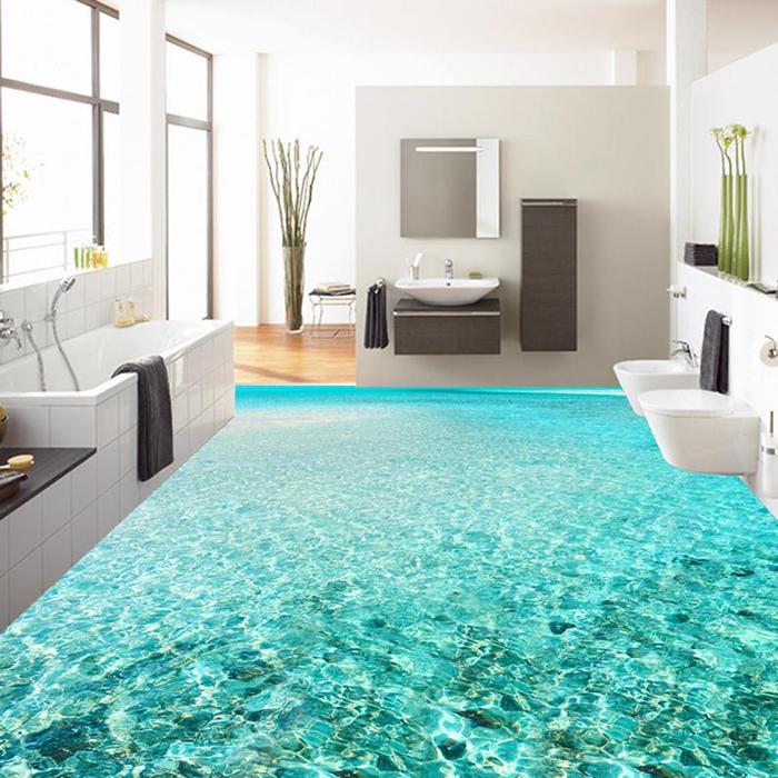 vinyl floor wallpapers bathroom sea