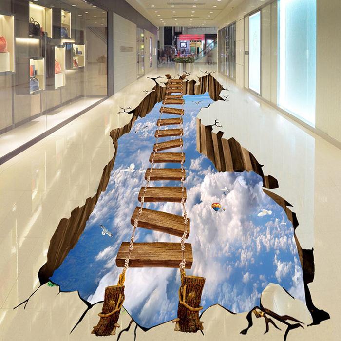 vinyl floor wallpapers sky bridge