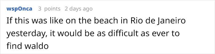 wspOnca Reddit Comment