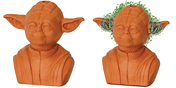 yoda chia pets decorative planter