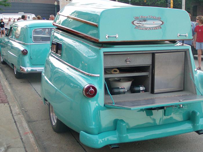 1954 Ford Delivery Wagon Retro Camper Davintosh
