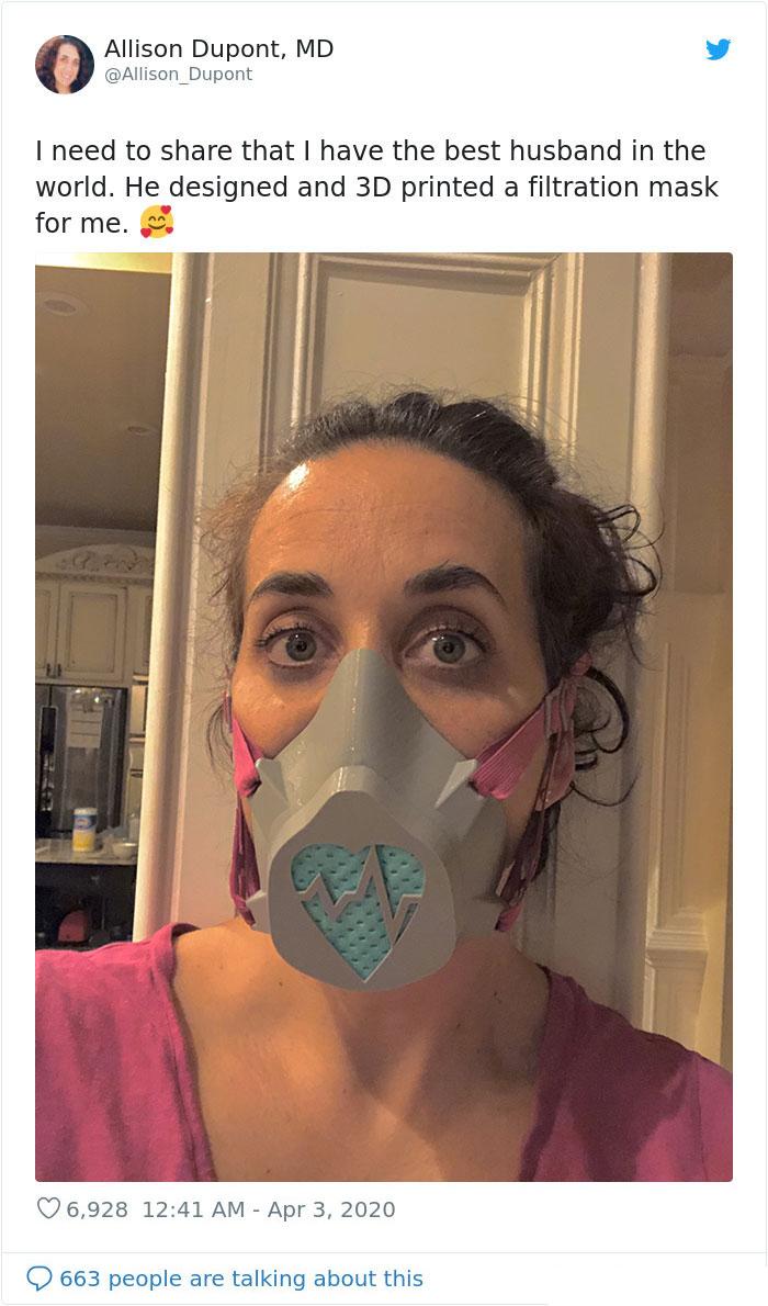 3d printed filtration mask