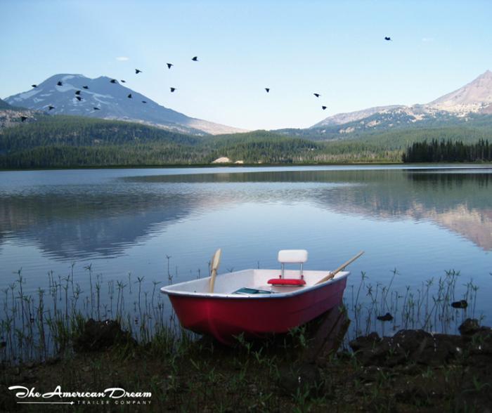 American Dream Trailer Boat Roof on Lake