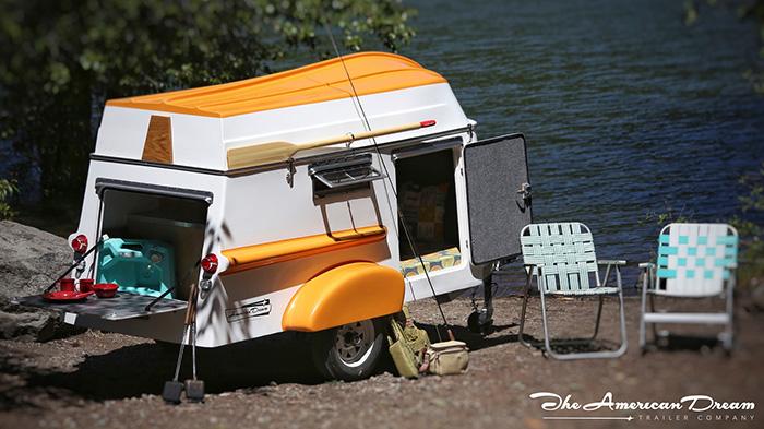 American Dream Trailer Retro Camper by the Lake
