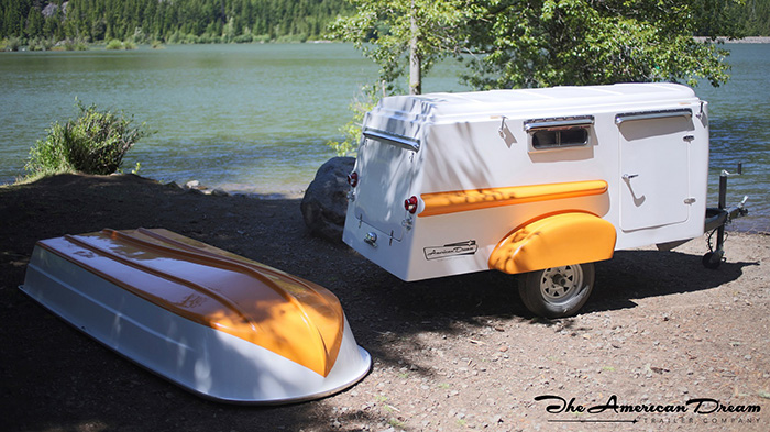 American Dream Trailer with Detachable Boat Roof