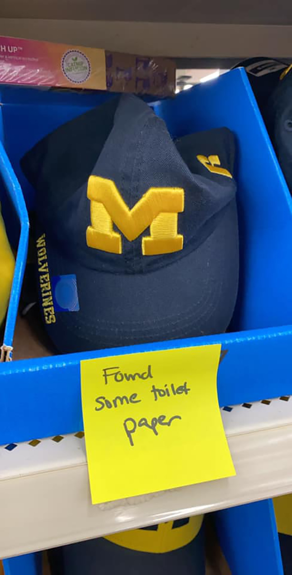 Amy Cook Hilarious Post-it Michigan Wolverines Cap