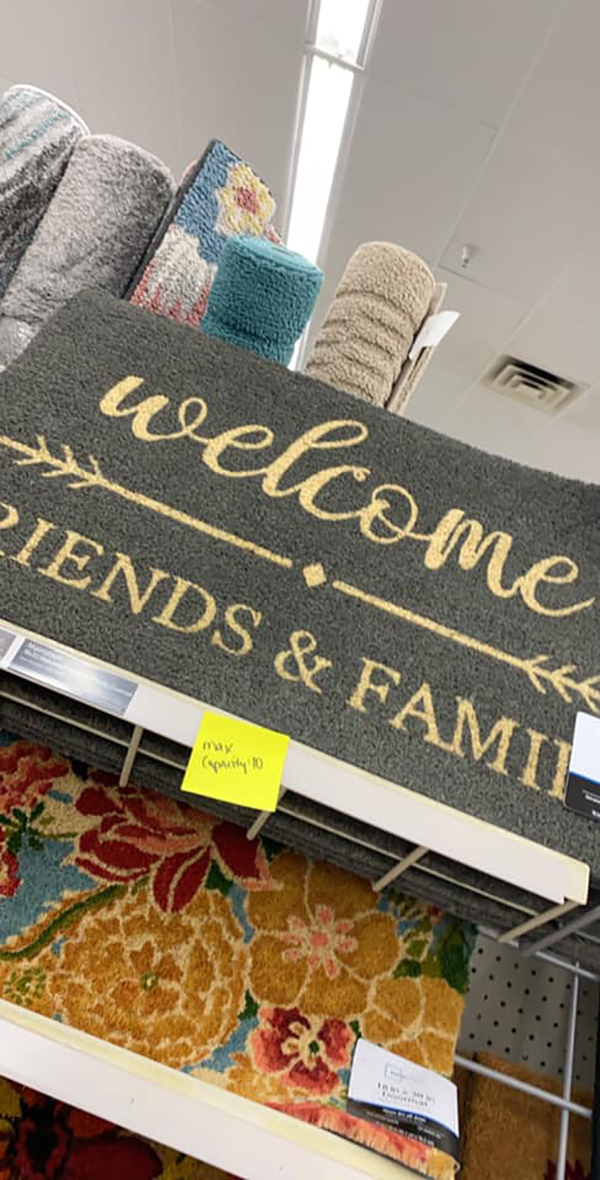 Amy Cook Hilarious Post-it Welcome Rug
