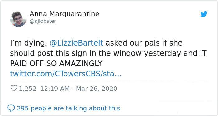 Anna Marquarantine Tweet