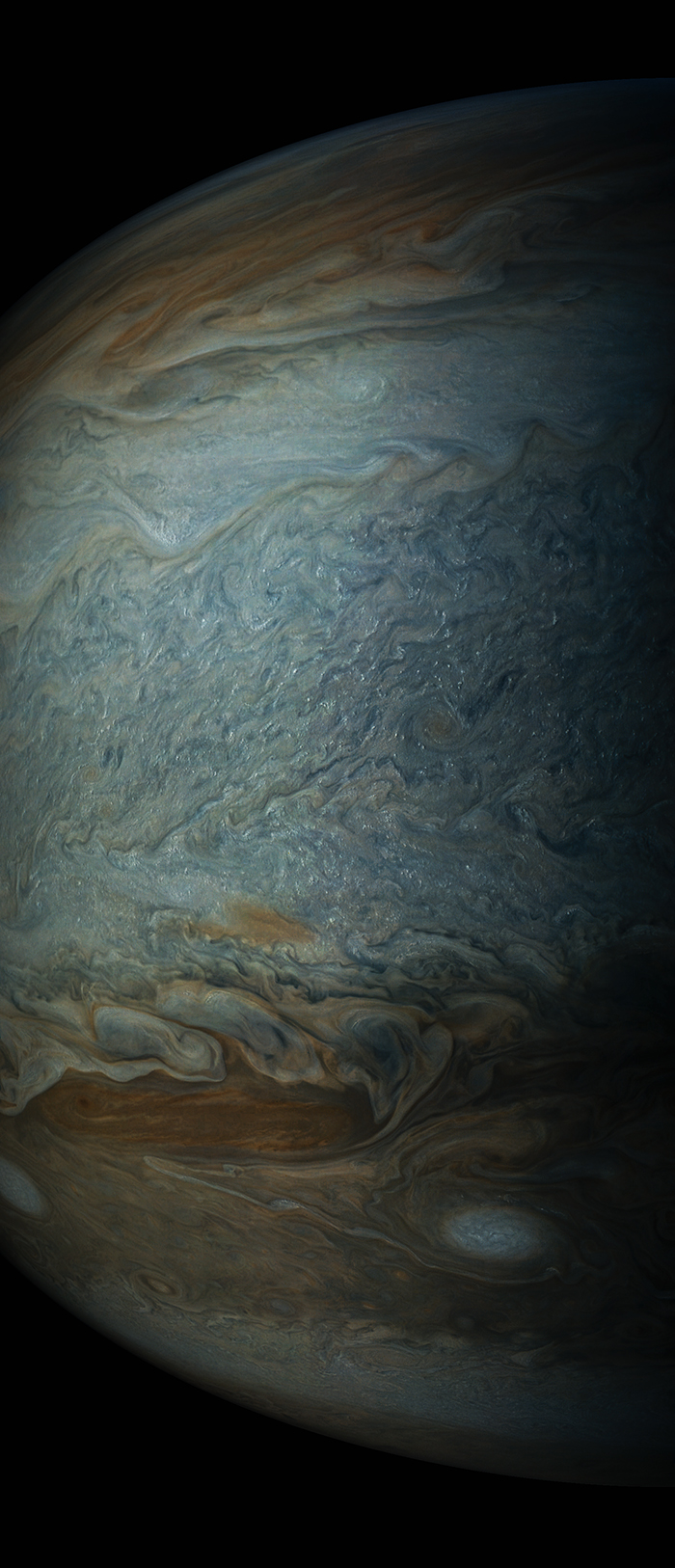 Bright Clouds Dot Jupiter South Tropical Zone Photo