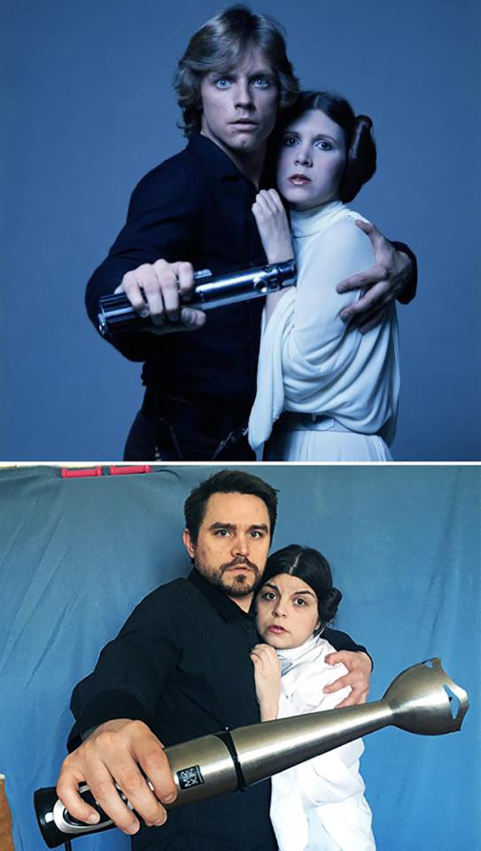 Couple Recreates Famous Movies Star Wars