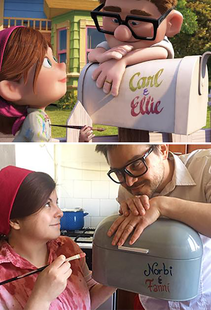 Couple Recreates Famous Movies Up