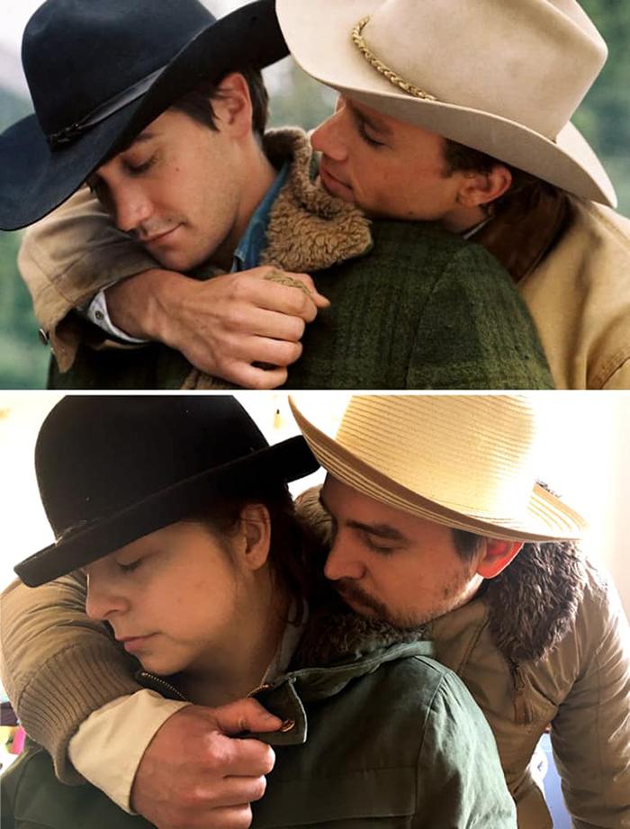 Couple Recreates Scene from Brokeback Mountain
