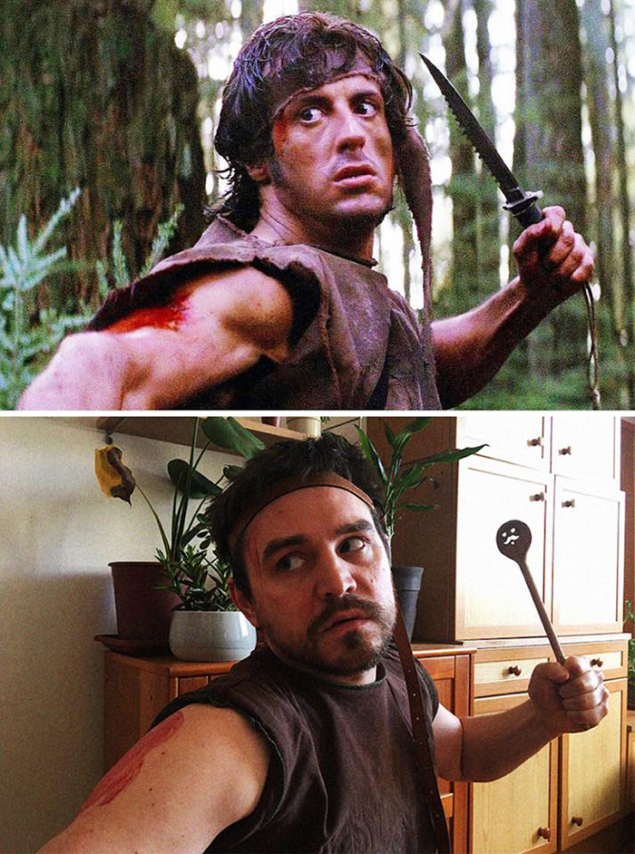 Couple Recreates Scene from First Blood